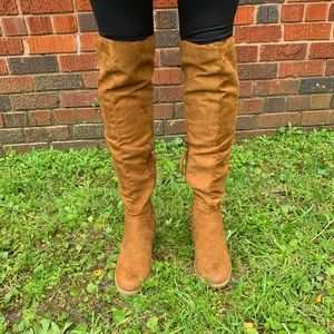 """DV for Target suede """"Marilyn"""" OTK Boots size 8"""
